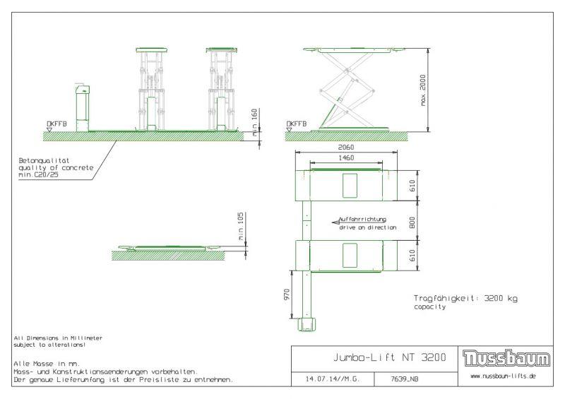 nussbaum jumbo lift nt 3200 pole3d. Black Bedroom Furniture Sets. Home Design Ideas